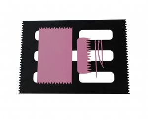 Weaving Loom Boards Set, PINK 95 x 160mm & BLACK A4 Size, Comb & Needles. S7801